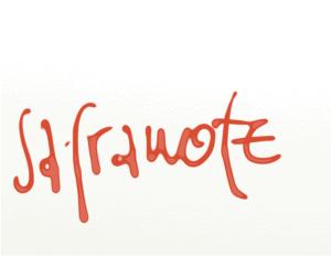 safranote_schrift_vektor
